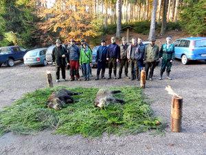 Studenti SZŠ Lanškroun na společné lovecké akci