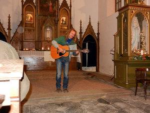 Předvánoční troubení - kostel Sv. Anny vAlbrechticích uLanškrouna 03