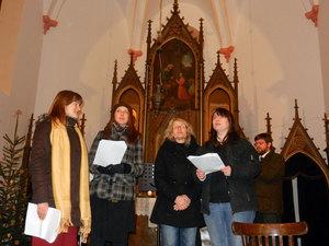 Předvánoční troubení - kostel Sv. Anny vAlbrechticích uLanškrouna 04