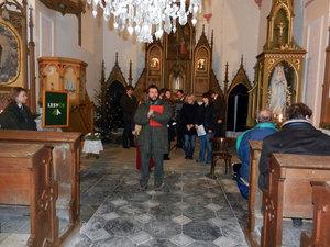 Předvánoční troubení - kostel Sv. Anny vAlbrechticích uLanškrouna 06